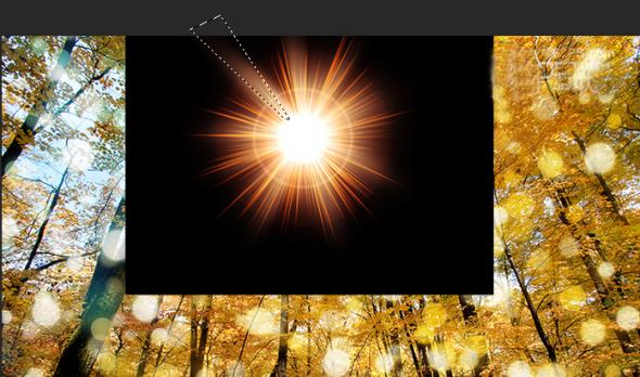 14、用相同的方法改变光线的大小、位子后创建新的动画帧,在时间轴上得到不同的动画帧。 设定动画帧的时间:全选动画帧,点击右键,在弹出的窗口选其它,设定时间为0.3秒。(如果上面的显示的时间有符合自己要求的就不需要再另外设置) 把次数设为永远,这样动画就会一直播放。