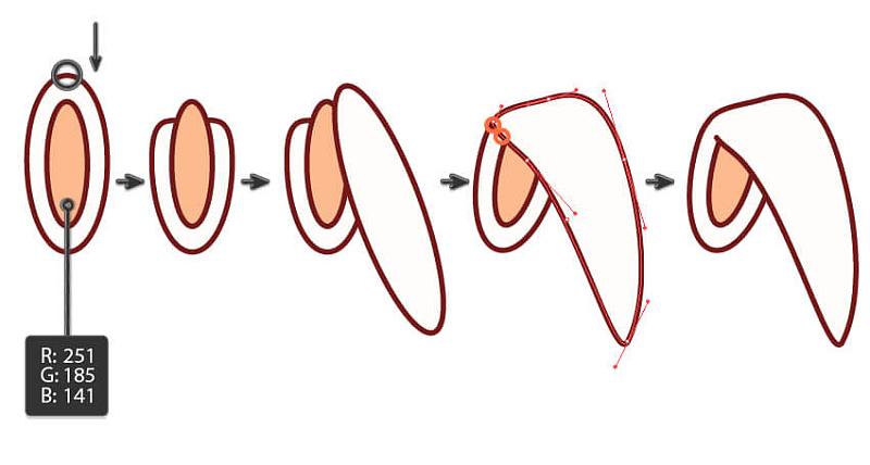 画卡哇伊动物总是很有趣。但是这更有趣 - 你可以释放你的想象力和创造力。在本教程中,您将看到从一个角度制作不同的可爱动物的乐趣和容易程度。通过遵循所有步骤,您将学习如何使用扭曲效果,移动锚点并使用探路者面板。您还将学习如何使用线段工具和反射工具。 如果你想看更多的卡哇伊动物, 以画兔子做示范 步骤1 打开您的Adobe Illustrator,并创建一个850 x 850像素宽度和高度的新文档。首先,我们将开始画兔子的头。使用椭圆工具(L)绘制一个椭圆。在下面的图片中,你可以看到你需要填充和描边颜色。使用
