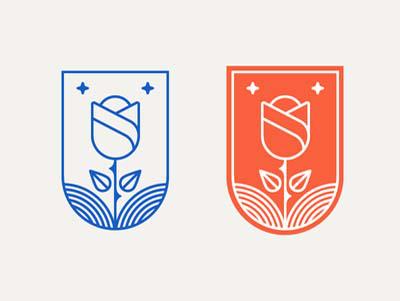 30款以玫瑰花为主题logo设计欣赏